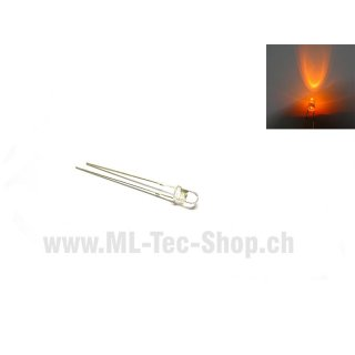 LED Superhell 3mm Orange runder Kopf 5000mcd 10stk.