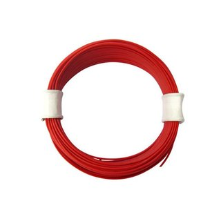 Flexible Litze Rot 0.6mm 10 Meter 1stk.